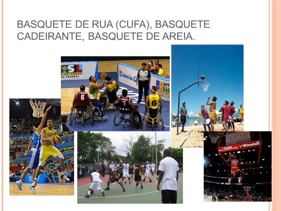 BASQUETE DE RUA (CUFA), BASQUETE CADEIRANTE, BASQUETE DE AREIA.