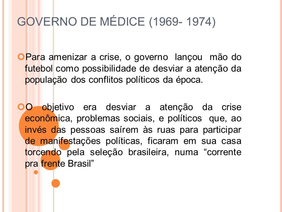GOVERNO DE MÉDICE (1969- 1974)