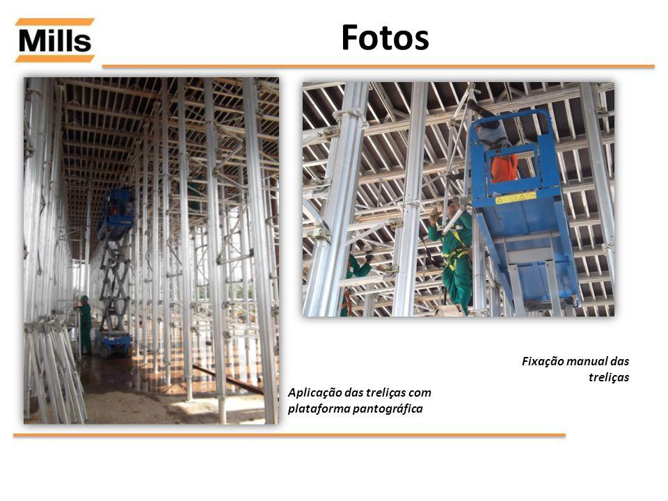 Fotos Fixação manual das treliças