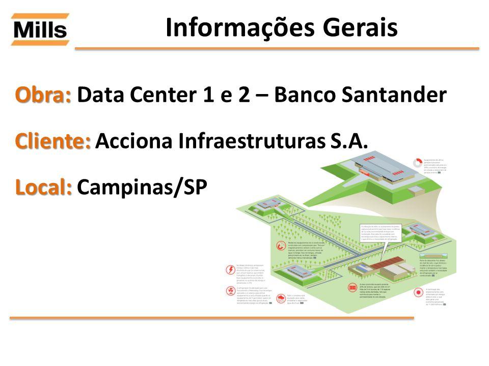 Informações Gerais Obra: Data Center 1 e 2 – Banco Santander