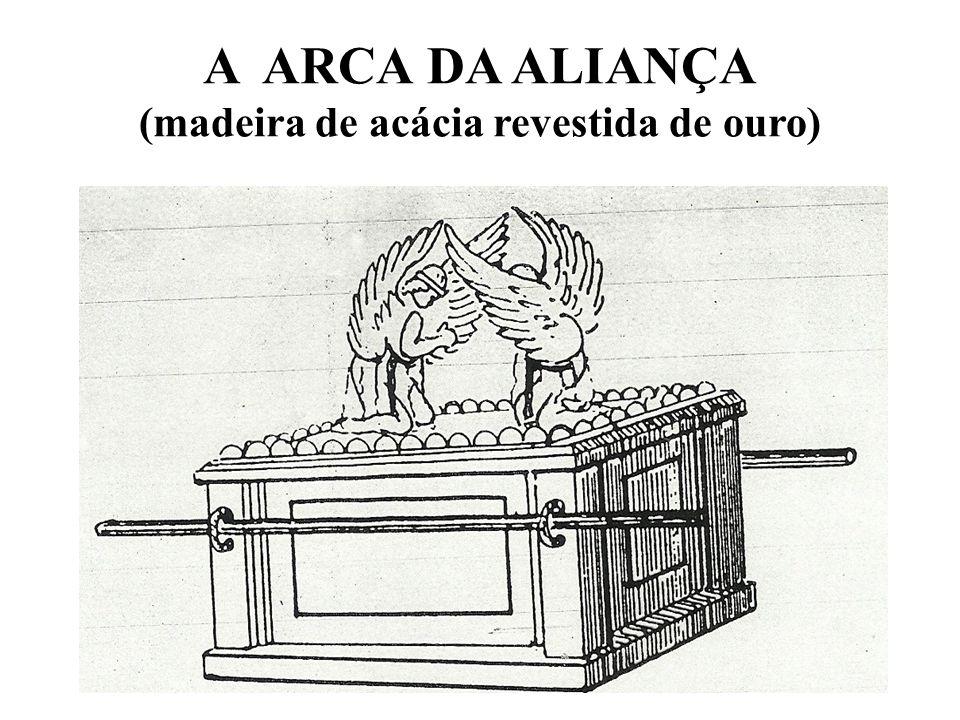 A ARCA DA ALIANÇA (madeira de acácia revestida de ouro)