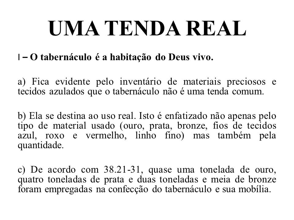 UMA TENDA REAL
