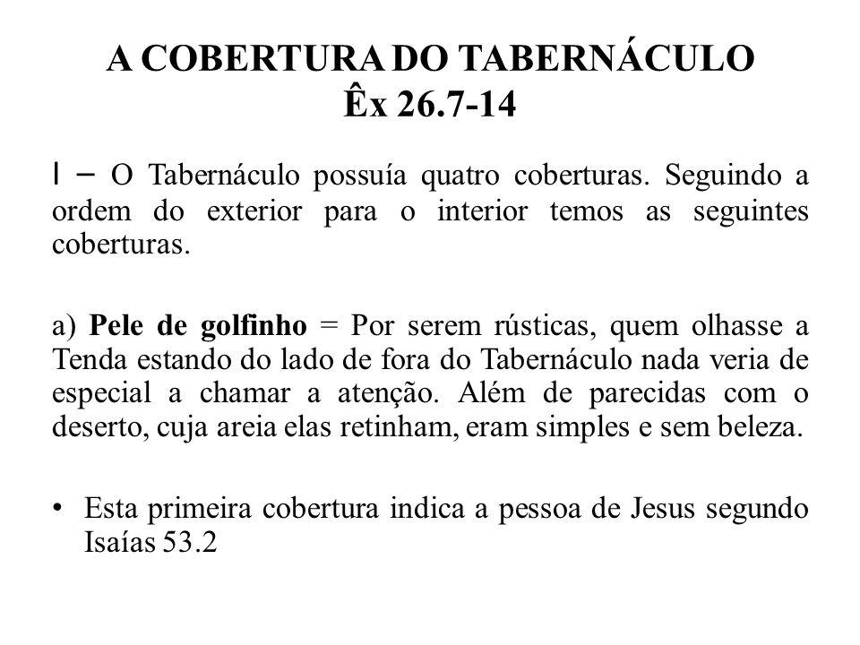 A COBERTURA DO TABERNÁCULO Êx 26.7-14