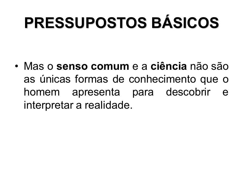 PRESSUPOSTOS BÁSICOS