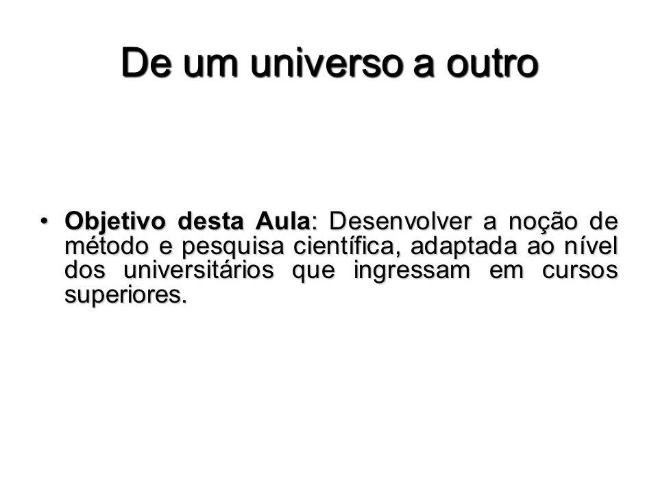 De um universo a outro