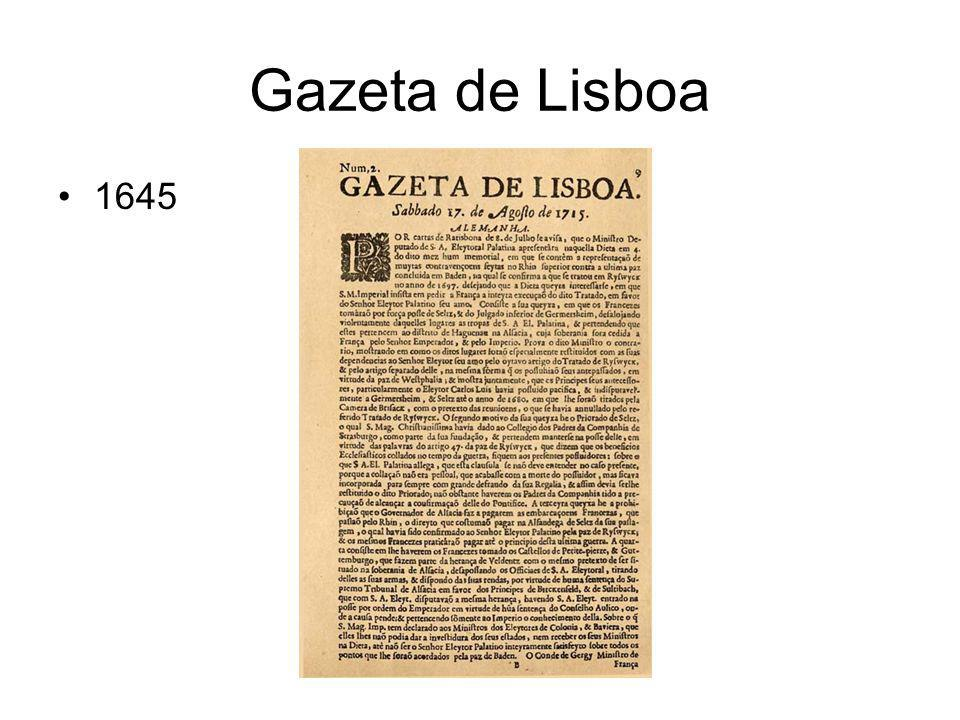 Gazeta de Lisboa 1645