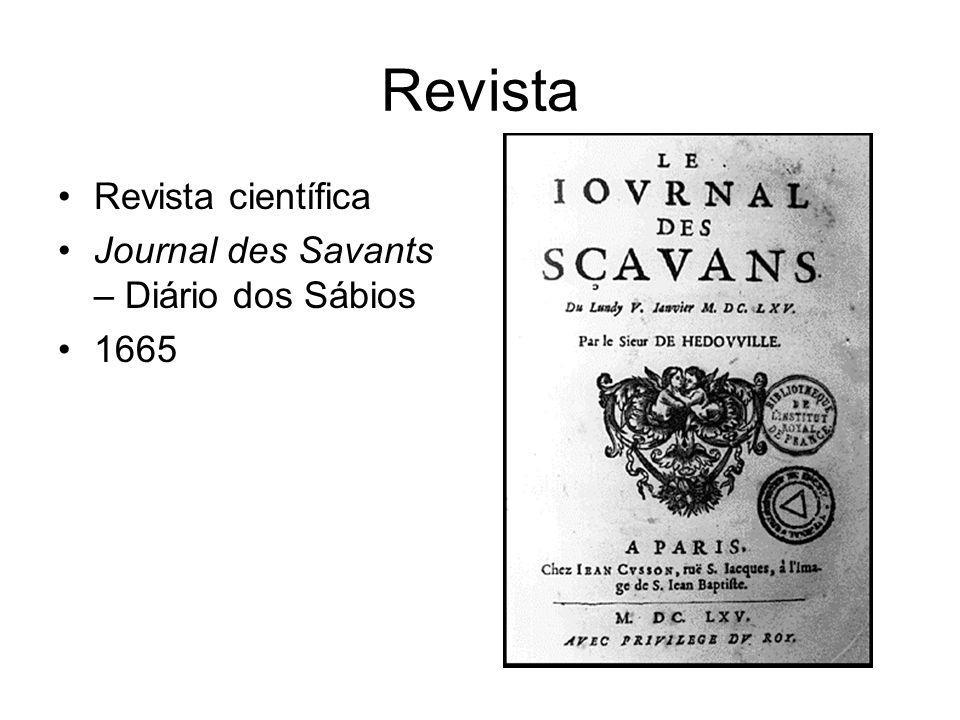 Revista Revista científica Journal des Savants – Diário dos Sábios