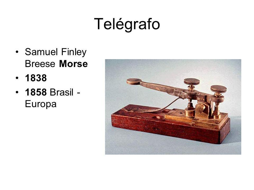 Telégrafo Samuel Finley Breese Morse 1838 1858 Brasil -Europa