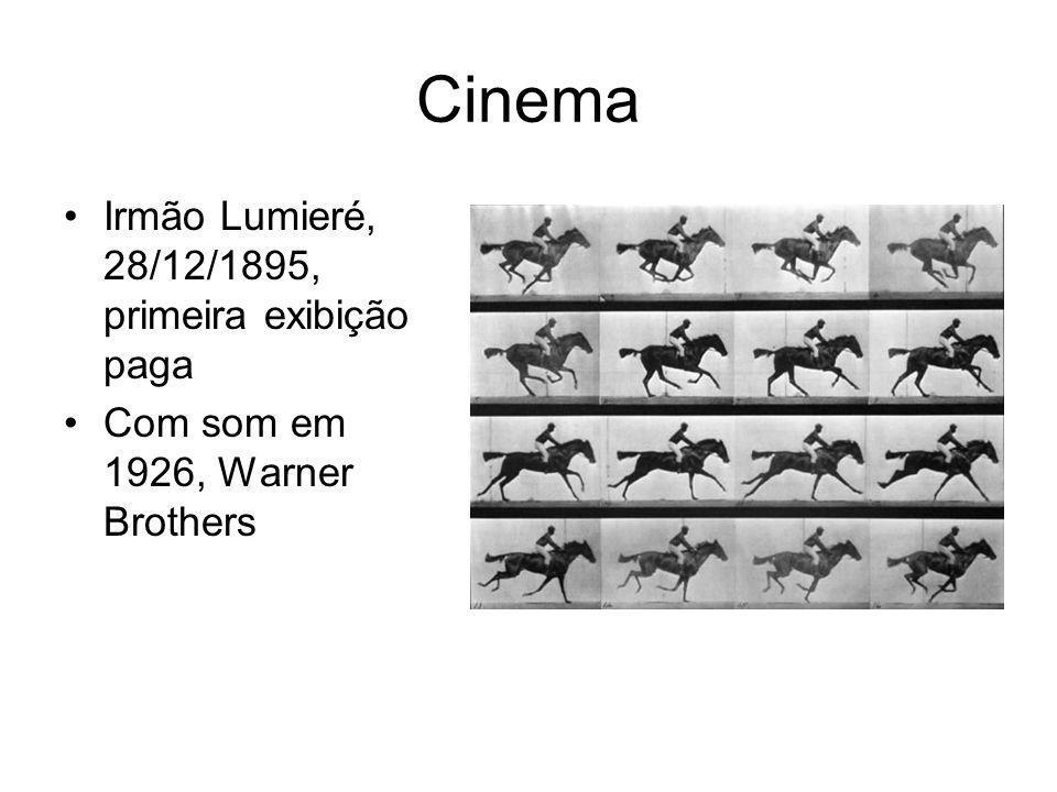 Cinema Irmão Lumieré, 28/12/1895, primeira exibição paga