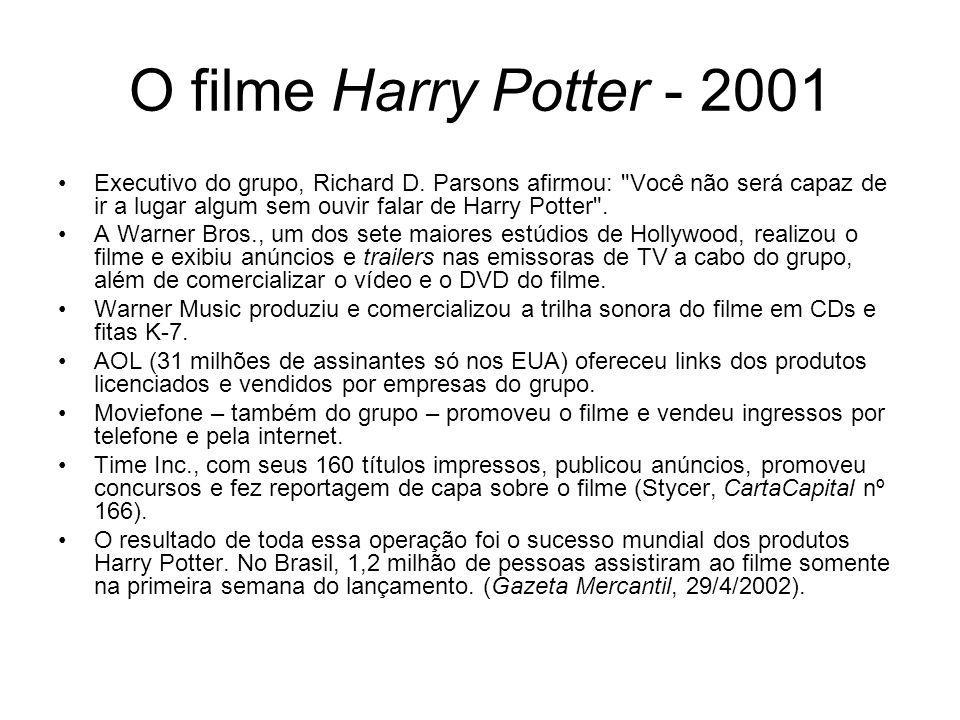 O filme Harry Potter - 2001