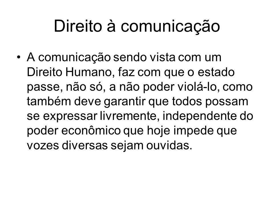 Direito à comunicação