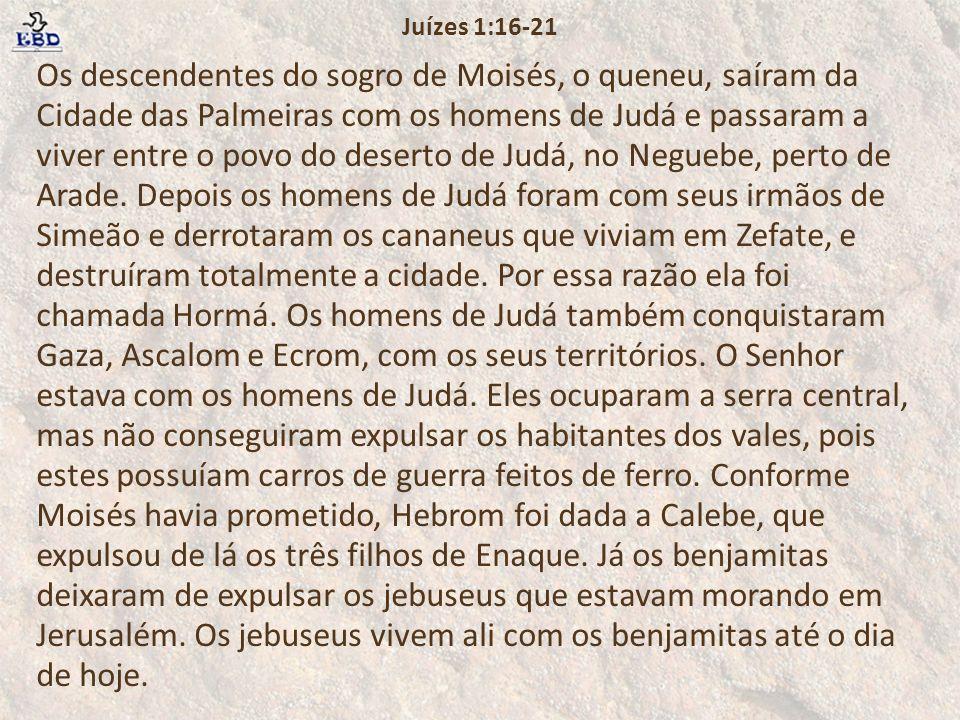 Juízes 1:16-21