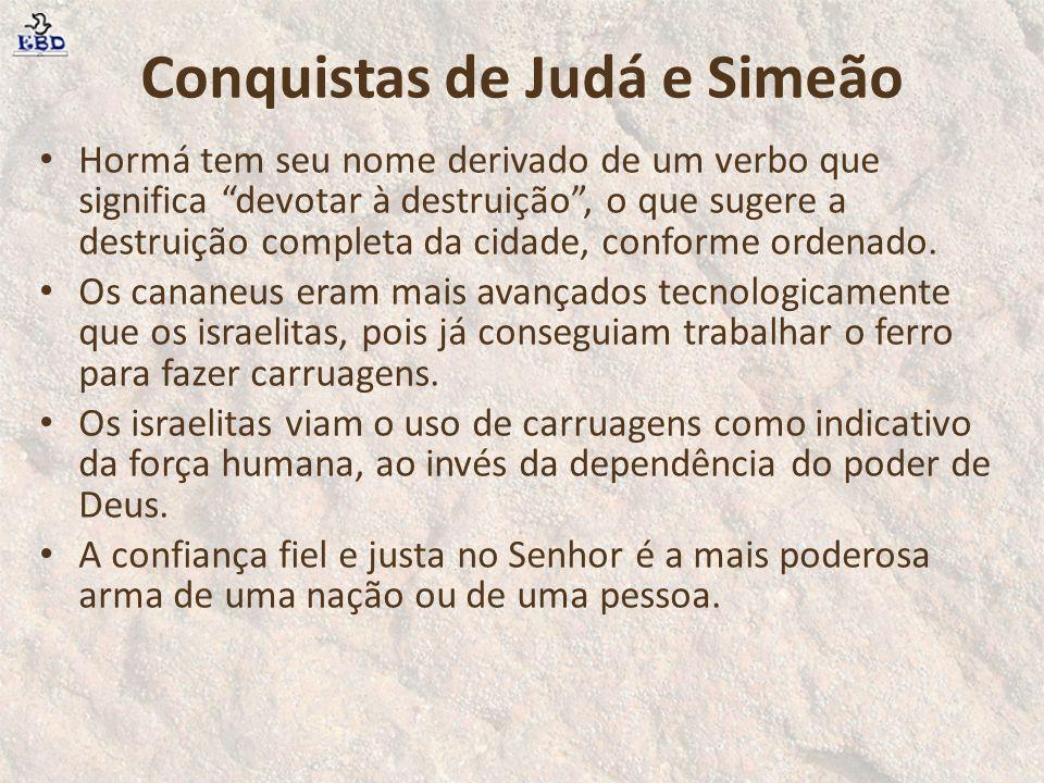 Conquistas de Judá e Simeão