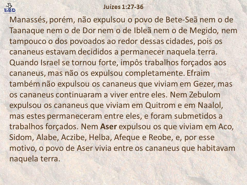 Juízes 1:27-36