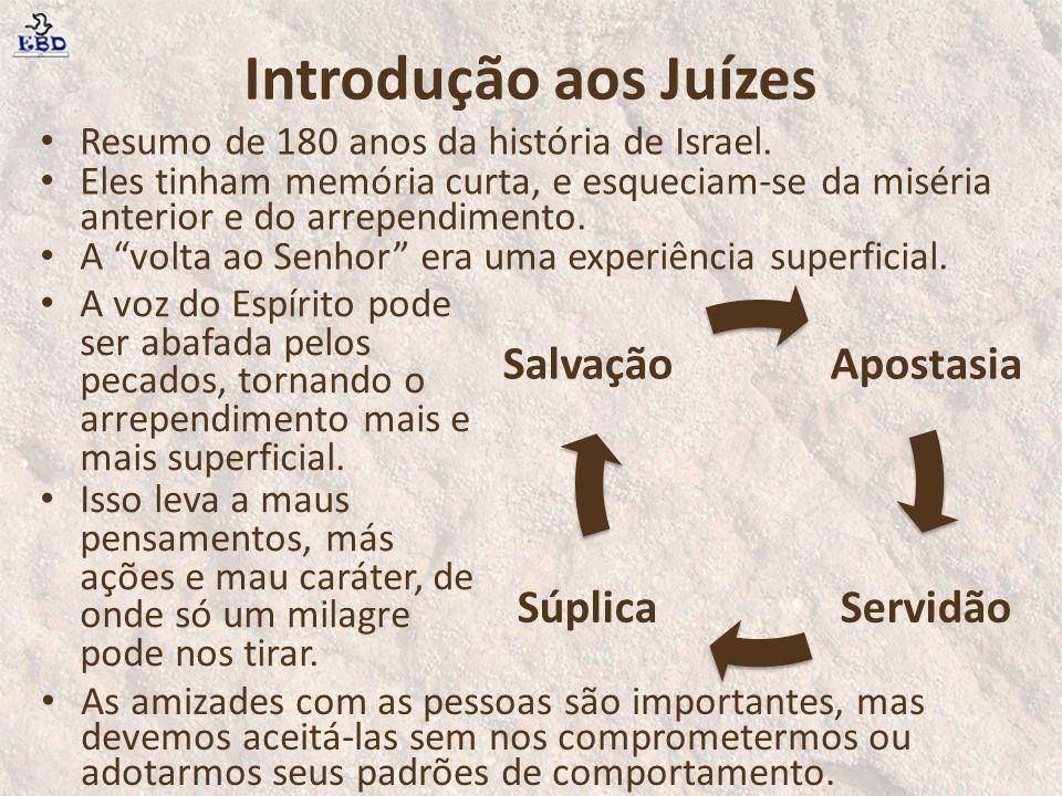 Introdução aos Juízes Salvação Apostasia Súplica Servidão