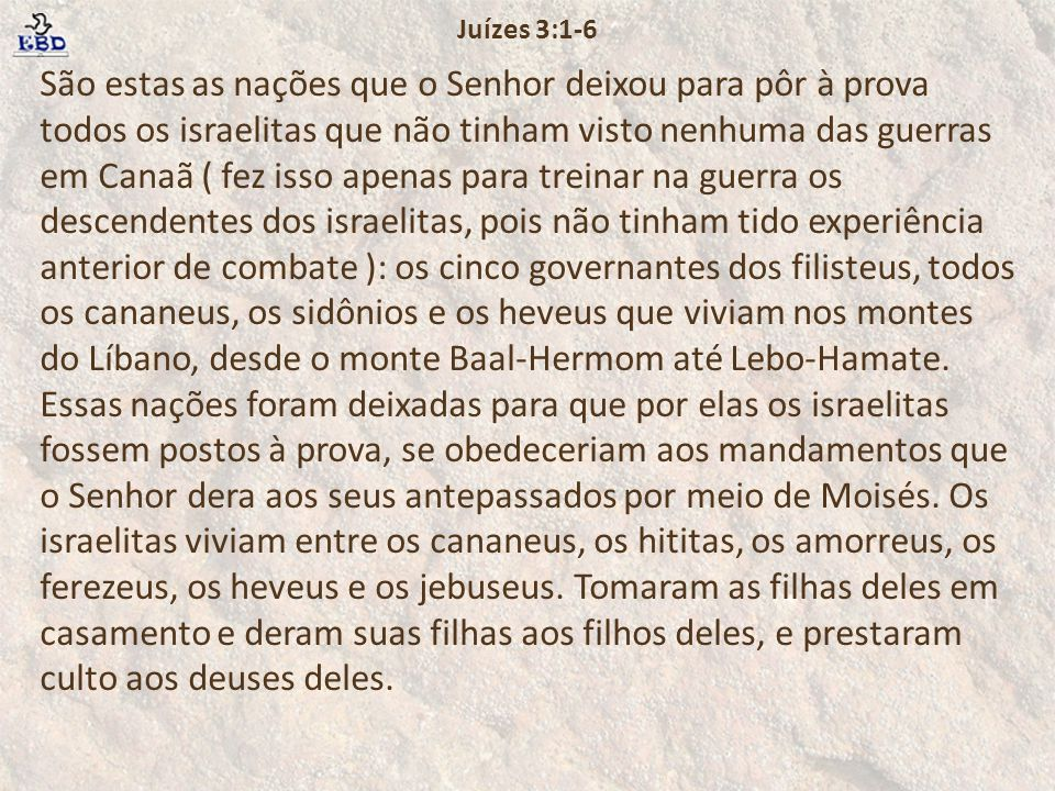 Juízes 3:1-6