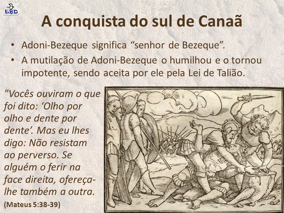 A conquista do sul de Canaã