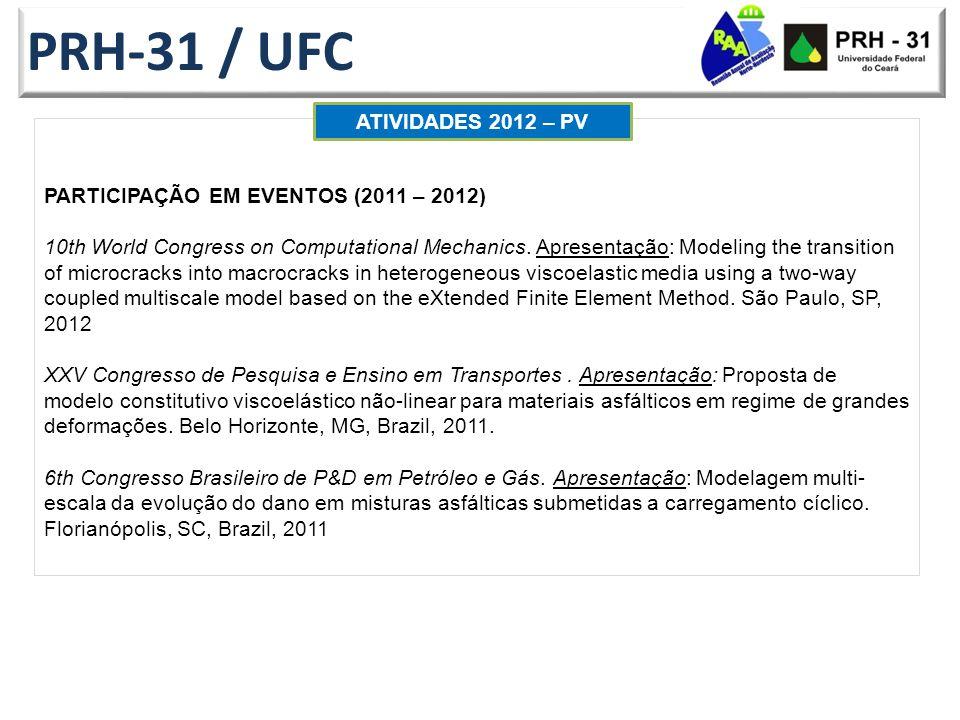 PRH-31 / UFC ATIVIDADES 2012 – PV