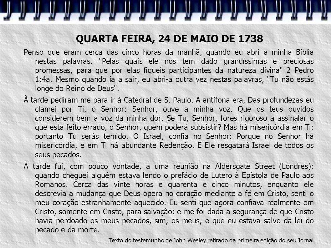 QUARTA FEIRA, 24 DE MAIO DE 1738