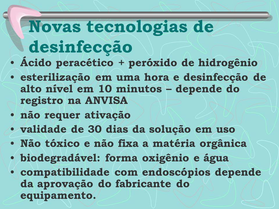 Novas tecnologias de desinfecção
