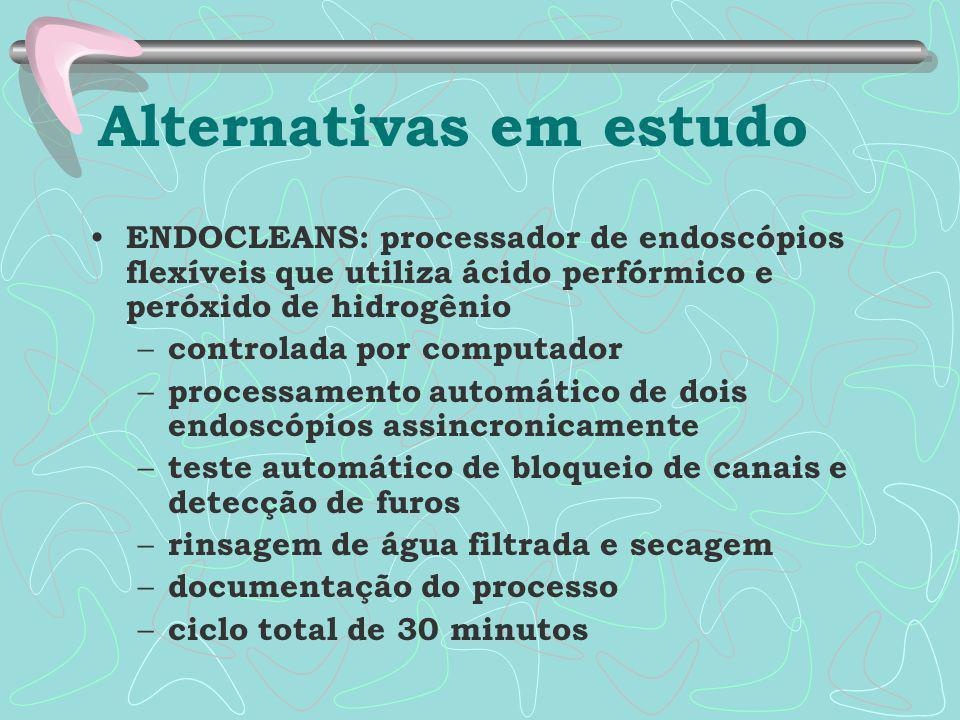 Alternativas em estudo