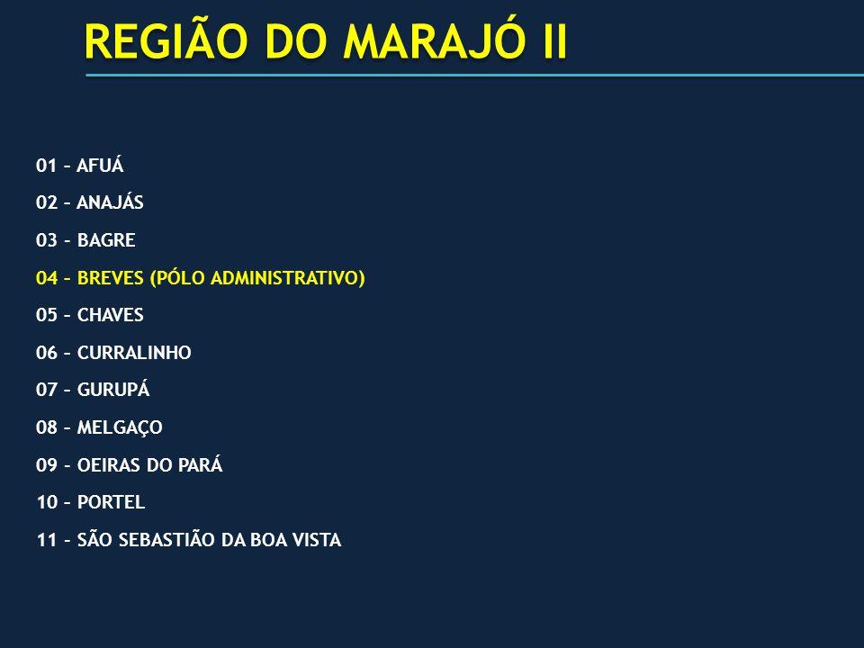 REGIÃO DO MARAJÓ II 01 – AFUÁ 02 – ANAJÁS 03 - BAGRE
