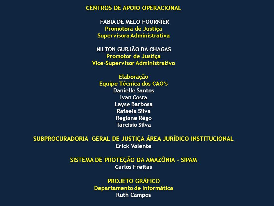 CENTROS DE APOIO OPERACIONAL FABIA DE MELO-FOURNIER