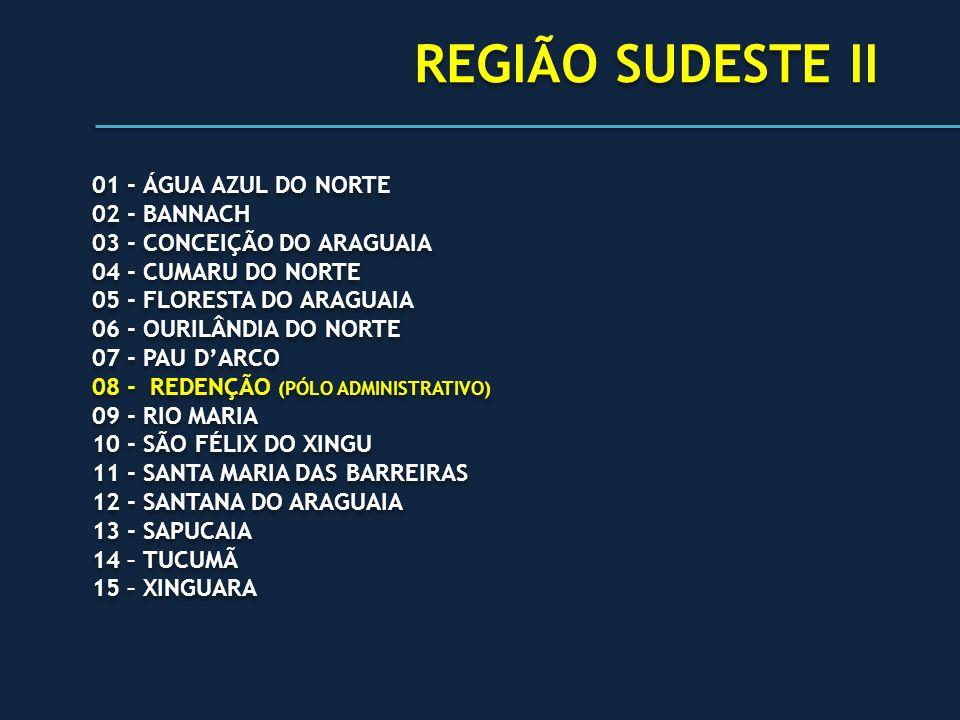REGIÃO SUDESTE II 01 - ÁGUA AZUL DO NORTE 02 - BANNACH
