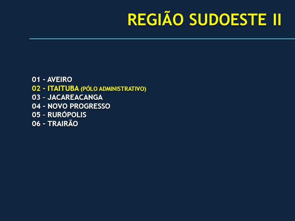 REGIÃO SUDOESTE II 01 - AVEIRO 02 - ITAITUBA (PÓLO ADMINISTRATIVO)