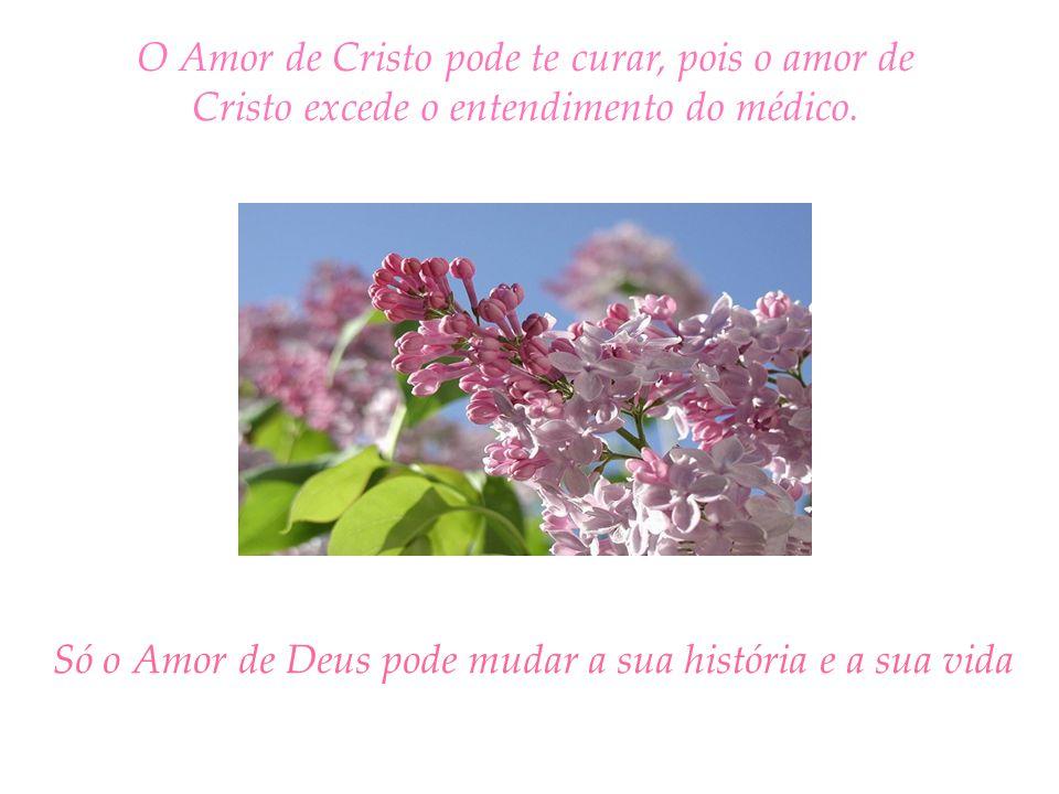 O Amor de Cristo pode te curar, pois o amor de Cristo excede o entendimento do médico.