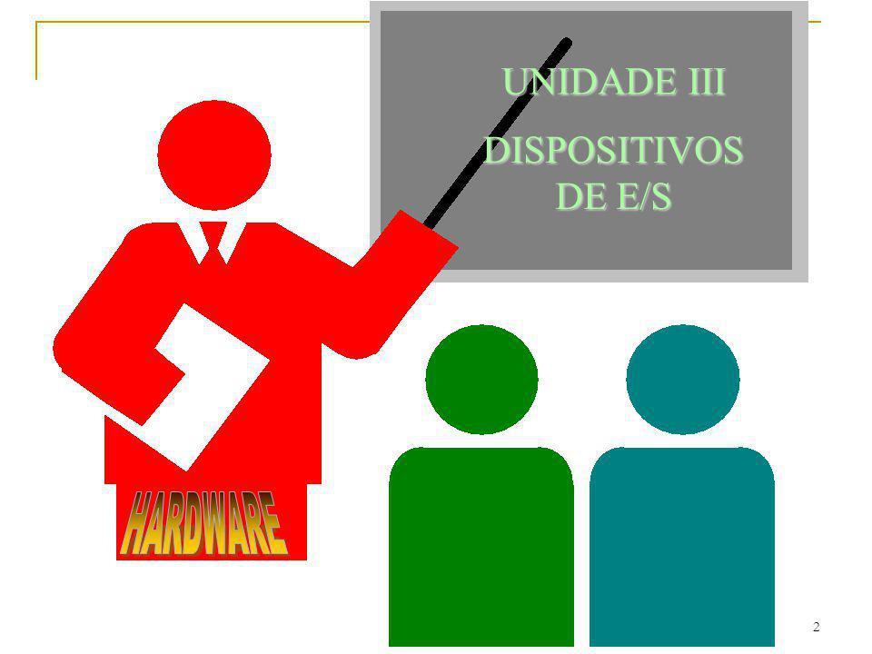 UNIDADE III DISPOSITIVOS DE E/S HARDWARE