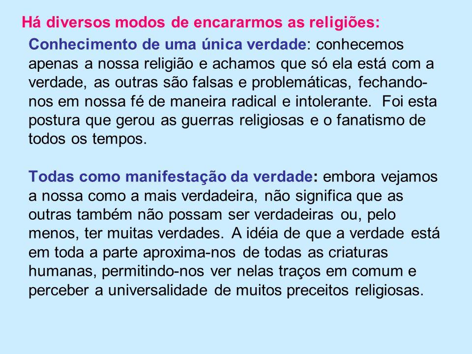 Há diversos modos de encararmos as religiões: