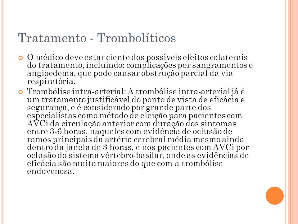 Tratamento - Trombolíticos