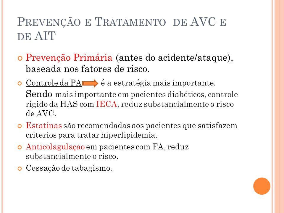 Prevenção e Tratamento de AVC e de AIT