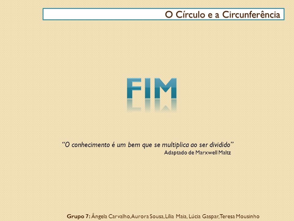FIM O Círculo e a Circunferência