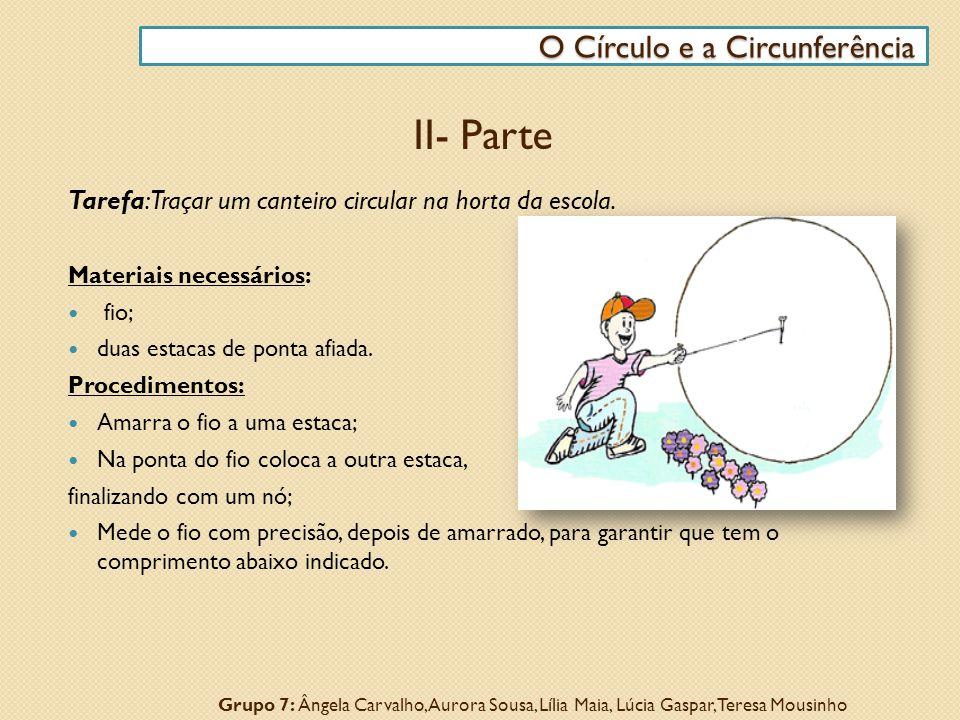 II- Parte O Círculo e a Circunferência