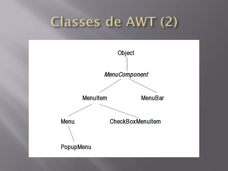 Classes de AWT (2)