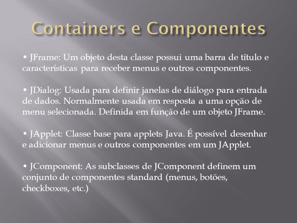 Containers e Componentes