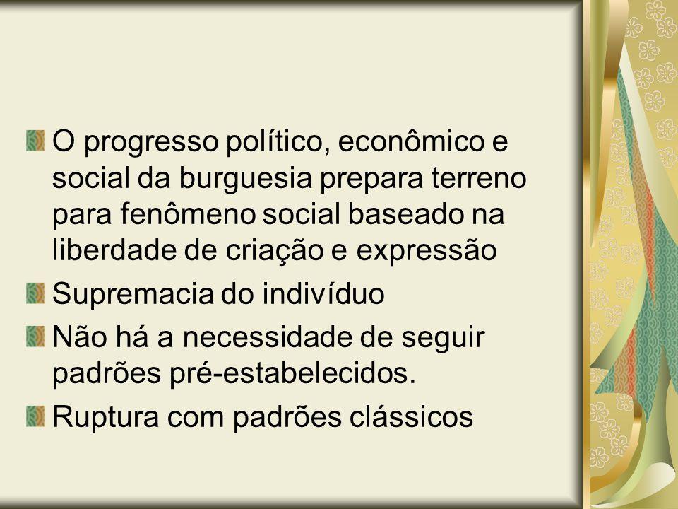 O progresso político, econômico e social da burguesia prepara terreno para fenômeno social baseado na liberdade de criação e expressão