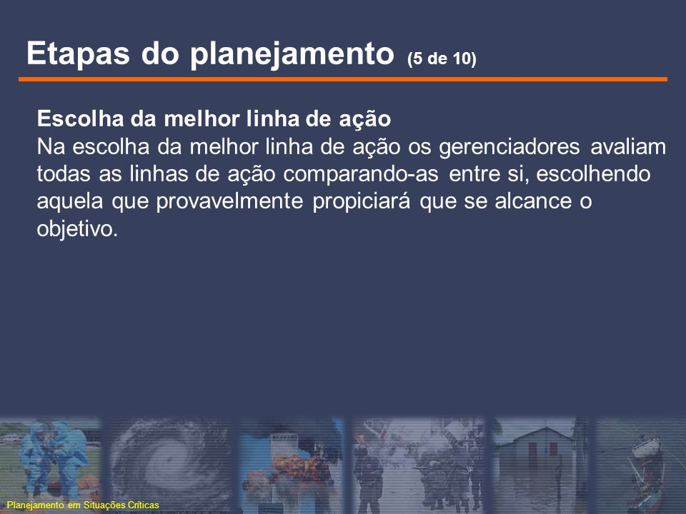 Etapas do planejamento (5 de 10)
