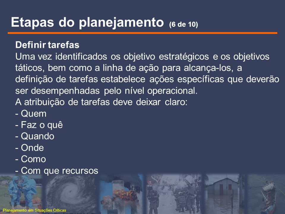 Etapas do planejamento (6 de 10)