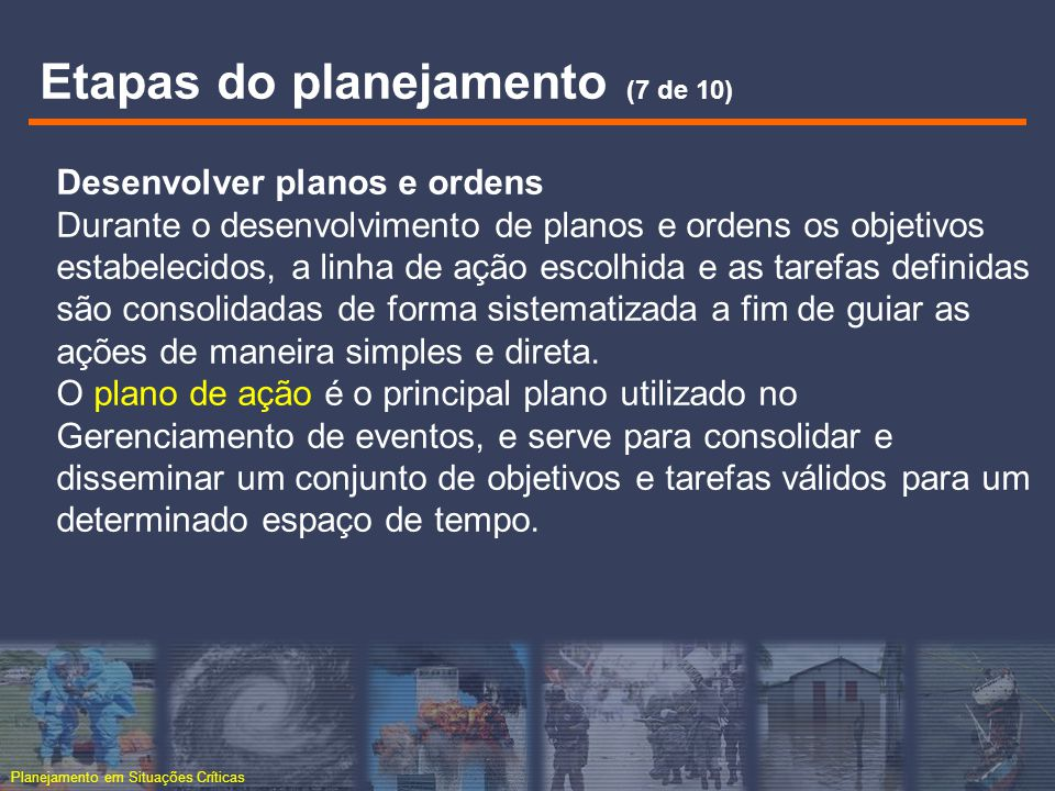 Etapas do planejamento (7 de 10)