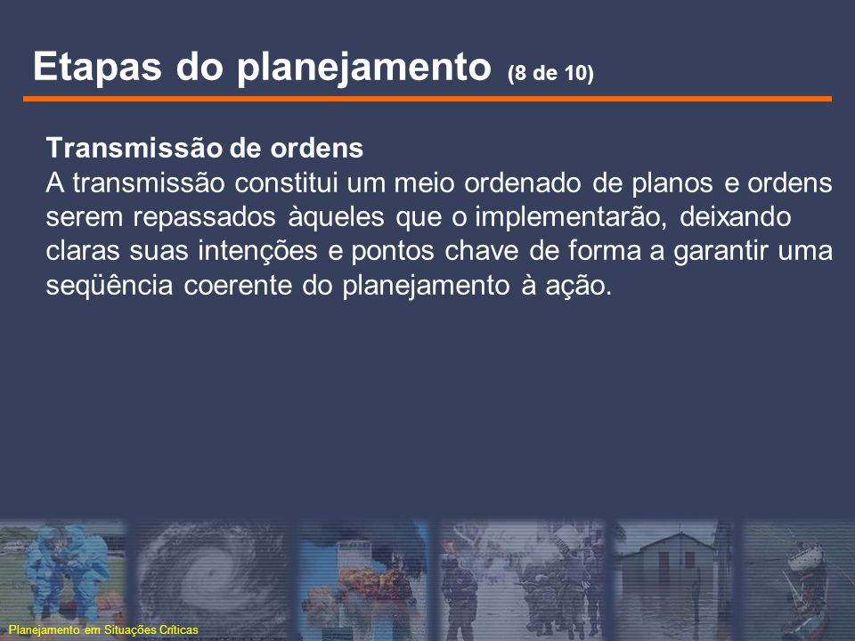Etapas do planejamento (8 de 10)