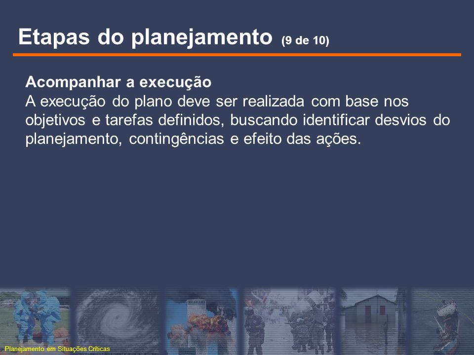Etapas do planejamento (9 de 10)