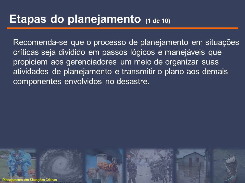 Etapas do planejamento (1 de 10)