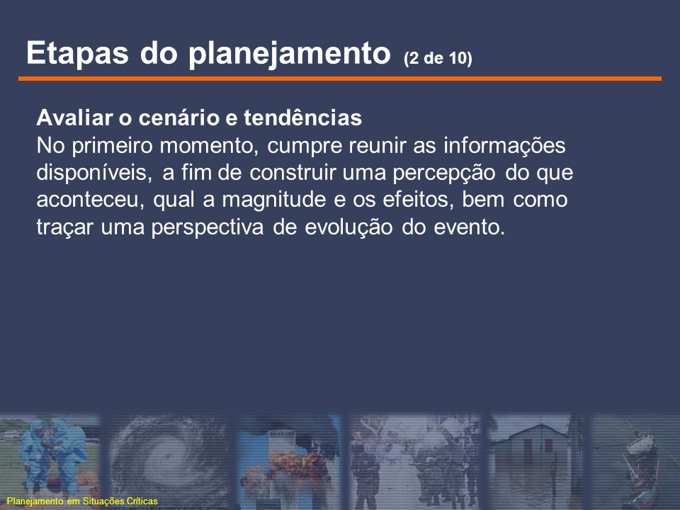 Etapas do planejamento (2 de 10)