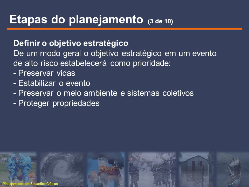 Etapas do planejamento (3 de 10)