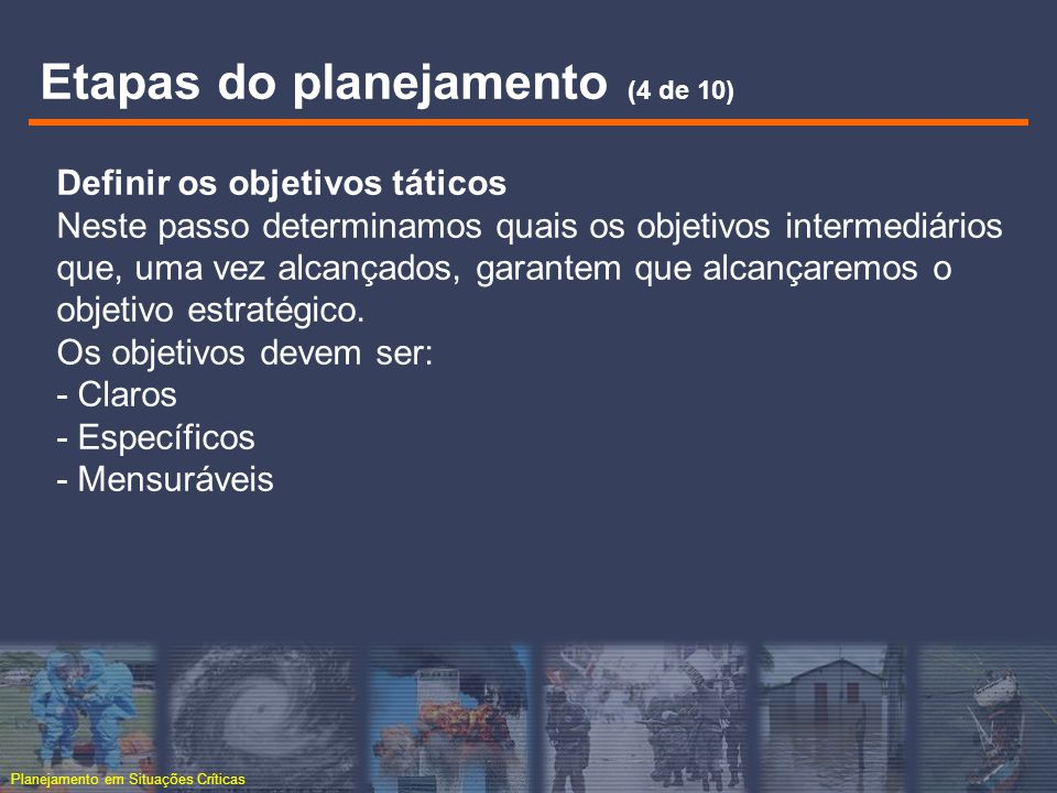 Etapas do planejamento (4 de 10)