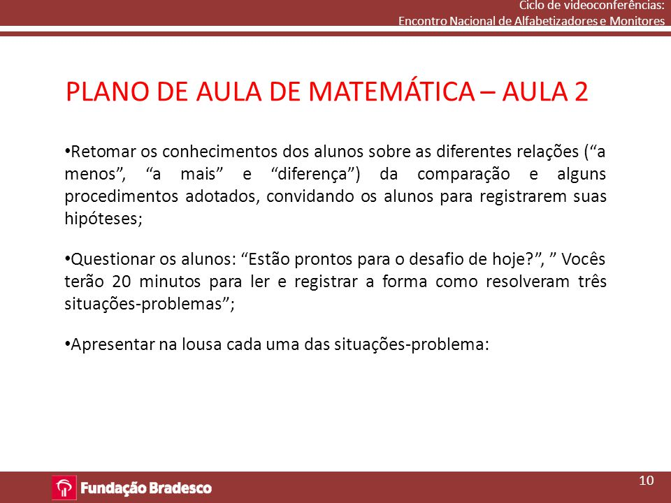 PLANO DE AULA DE MATEMÁTICA – AULA 2