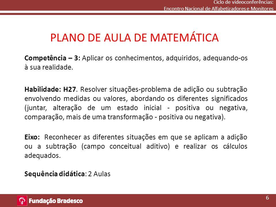 PLANO DE AULA DE MATEMÁTICA